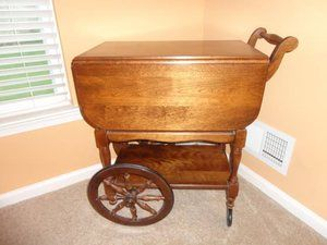Tell City Maple Tea Cart Farm Kitchen Reno Pinterest