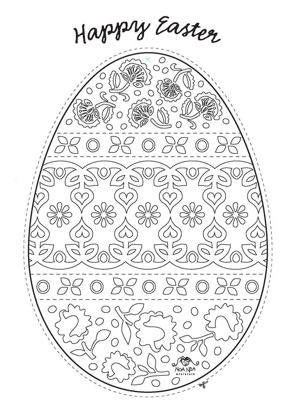 Free Easter Colouring Pages | Mandalas, Colorear y Huevo