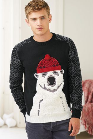 Next Christmas Jumpers.Buy Black Polar Bear Crew From The Next Uk Online Shop
