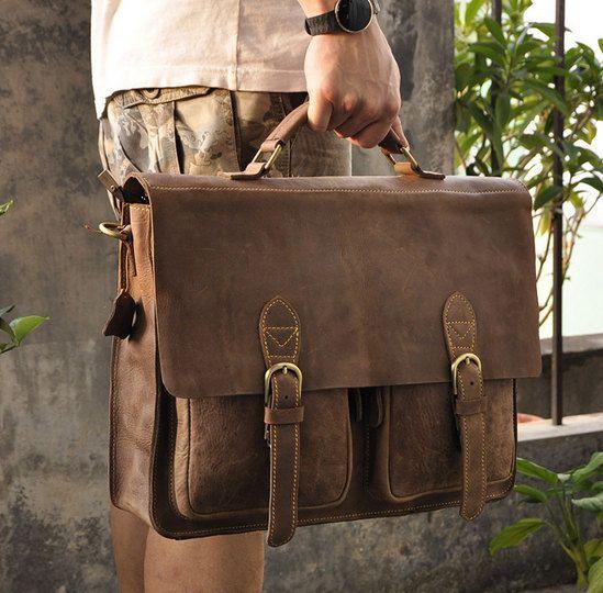 "Messenger bag Leather, Handmade Laptop bag /Briefcase / Leather Messenger Bag / 13"" 15"" MacBook 13"" 14"" 15"" Laptop Bag"