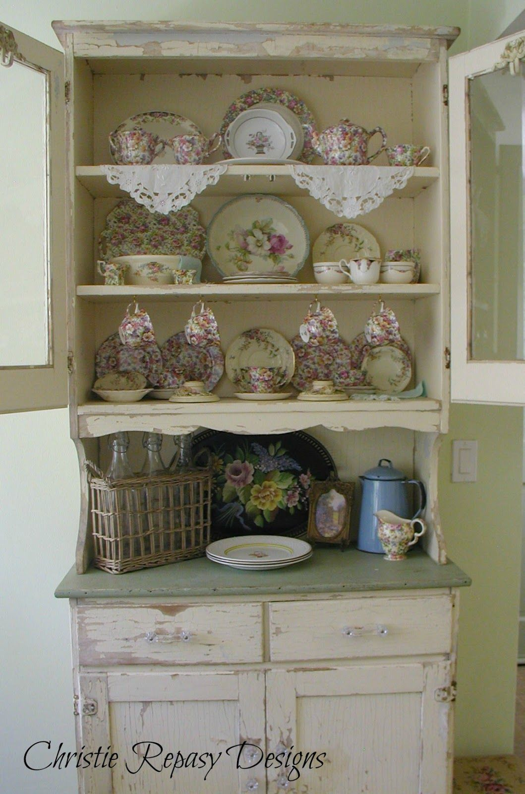 Vetrina Cucina Shabby Chateau De Fleurs My Little Country Kitchen China Cabinet