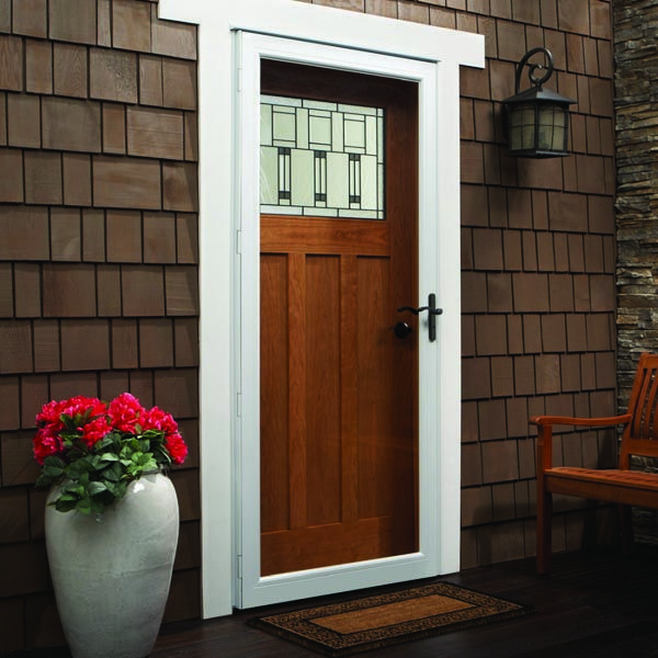 Andersen Storm Door 32 X 80 Interchangeable Glass 10 Series In 2020 Full View Storm Door Andersen Storm Doors Glass Storm Doors