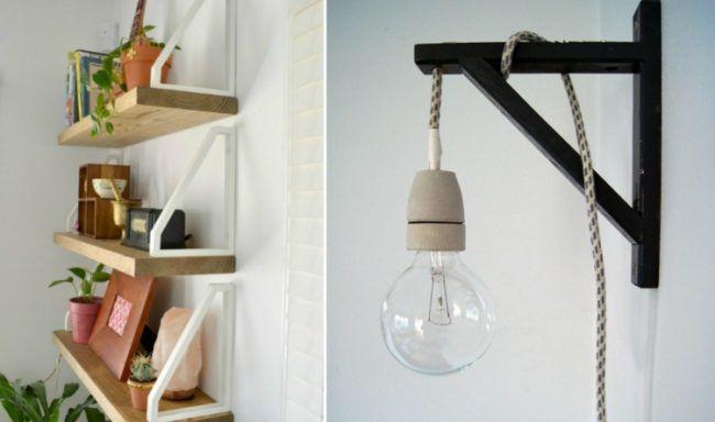 diy-ideen-regalhalterung-oben-gluehbirne-lampe-kabel-stoff   Deko ...