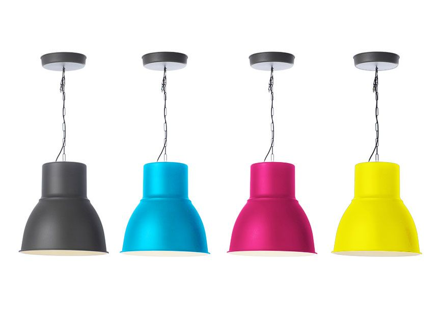 IKEA Hektar pendant l& painted in each pop color. Placed above kitchen/eating area  sc 1 st  Pinterest & IKEA Hektar pendant lamp painted in each pop color. Placed above ... azcodes.com