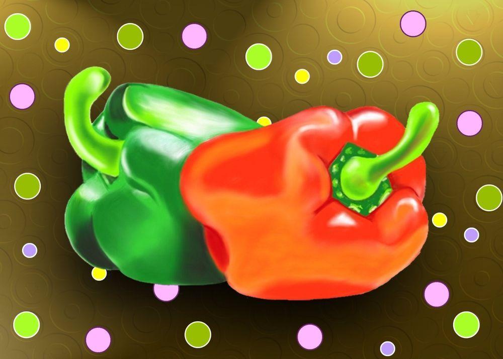 Peperoni Pop - Stampa artistica su cartoncino - Pop Art cm. 70x50 - Mamo Loati
