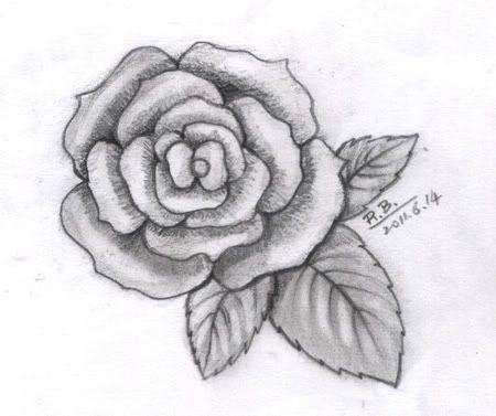 这里全是... 页面:网站首页-- 玫瑰花铅笔画