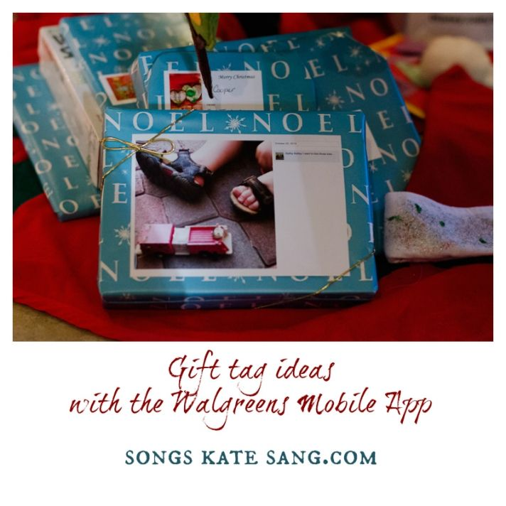 Gift Tag ideas with the Walgreens Mobile App shop