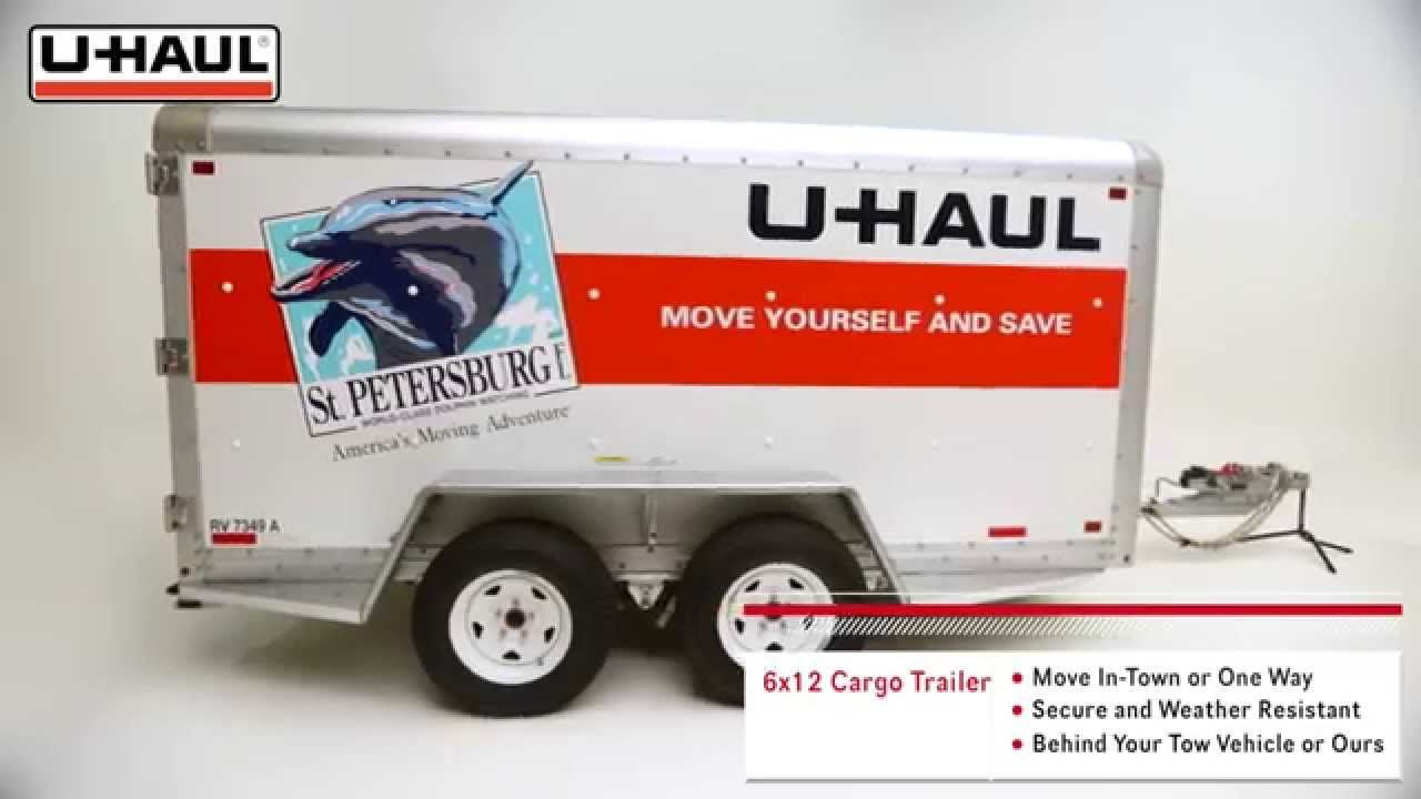 hight resolution of u haul 6x12 cargo trailer features