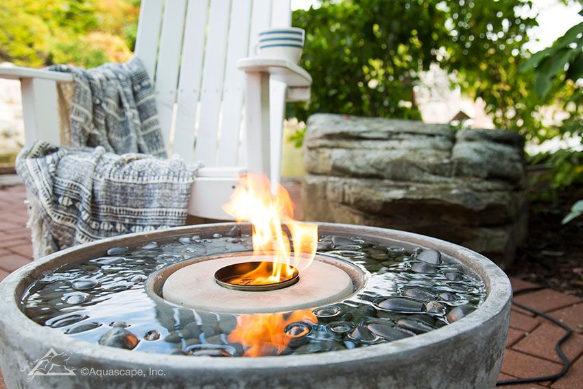 Fire Fountains Water And Fire Fountain Fire Water Feature Diy