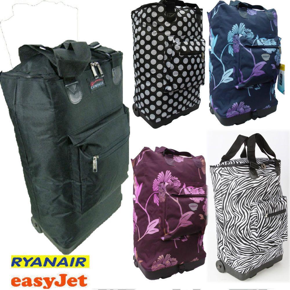 Hand luggage Lightweight Trolley Holdall Cabin bag on wheels ...