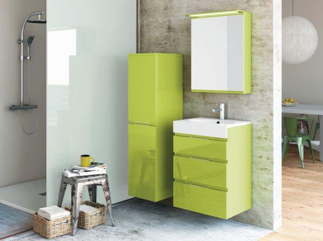 Salle de bains vert anis decotec salle de bains for Salle bain vert