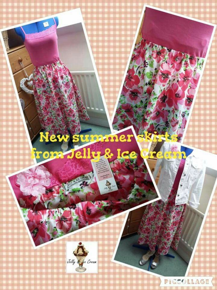 New cotton mix summer skirts available from Jelly & Ice Cream 💟