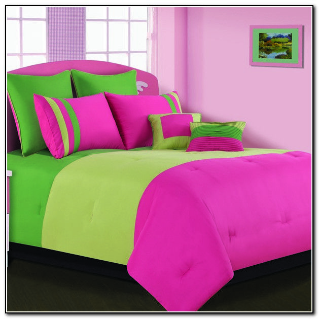 Pink And Lime Green Bedding Sets Beds Home Furniture Design