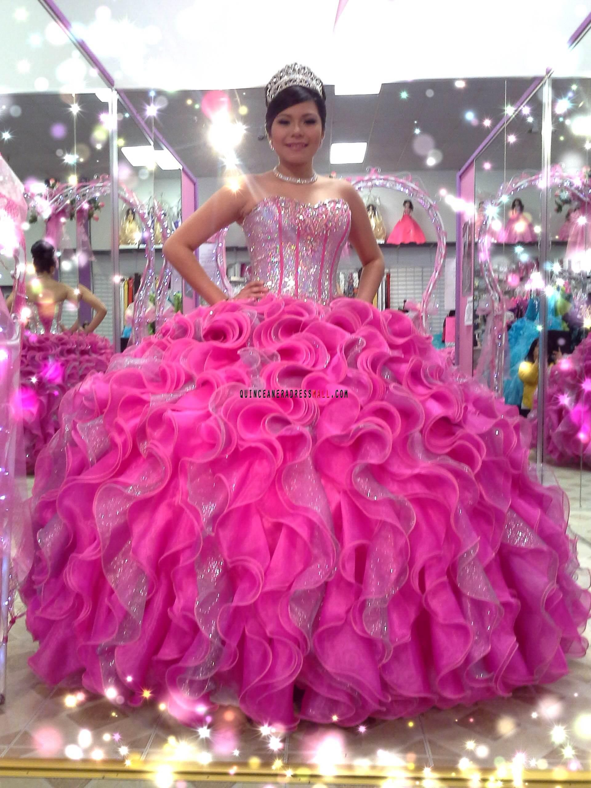 5f3edebc6 pink with silver quincenera dress