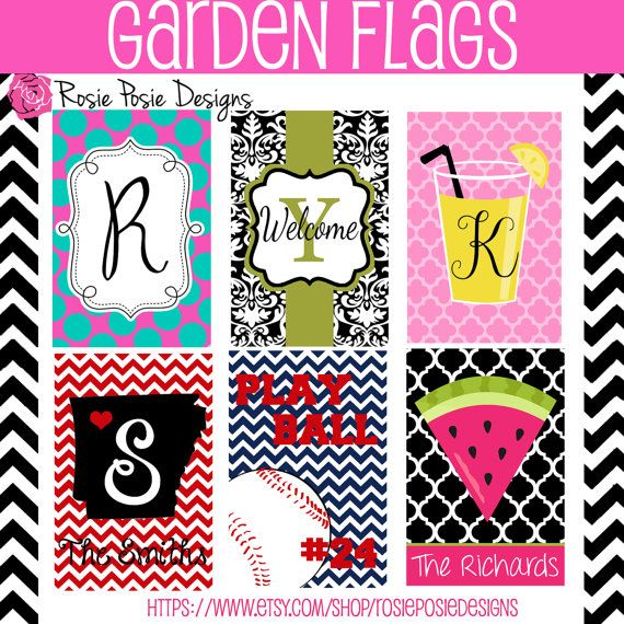 Exceptional Personalized Monogrammed Custom Garden Flag Design Your Own  Stand Included  On Etsy, $27.50