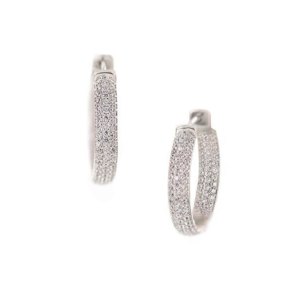 Kiera Couture Carats In And Out Huggie Hoop Earrings