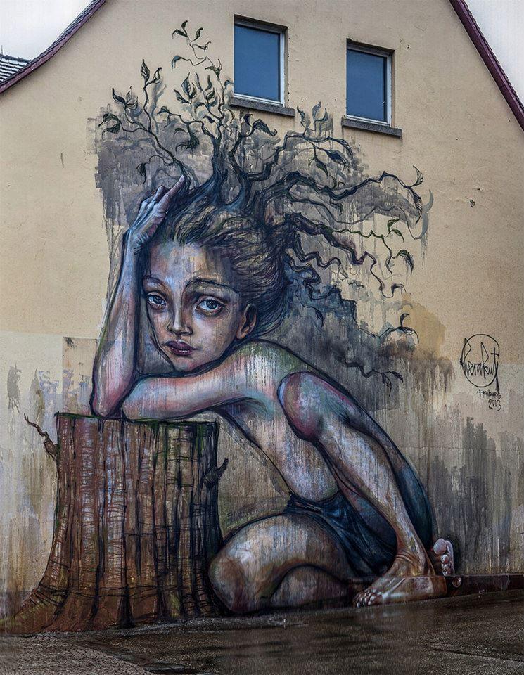 #herakut #streetart #urbanart #streetartists #graffiti #mural #widewalls #globalstreetart #artin Freiburg, Germany 1