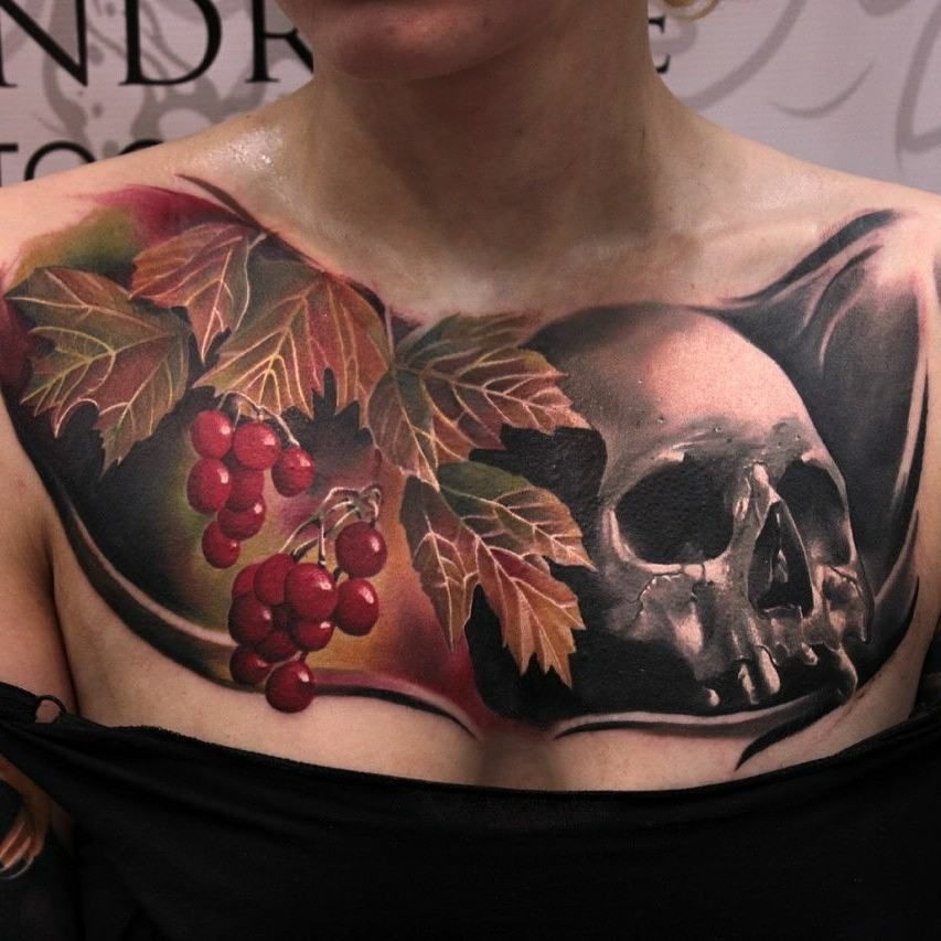Cool chest tattoos skulls pinterest chest tattoo for Sweet chest tattoos