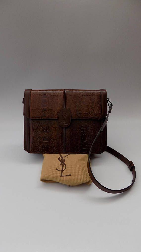 Ysl Yves Saint Laurent Vintage Brown Leather Shoulder Bag Brown Leather Shoulder Bag Yves Saint Laurent Vintage Leather Shoulder Bag