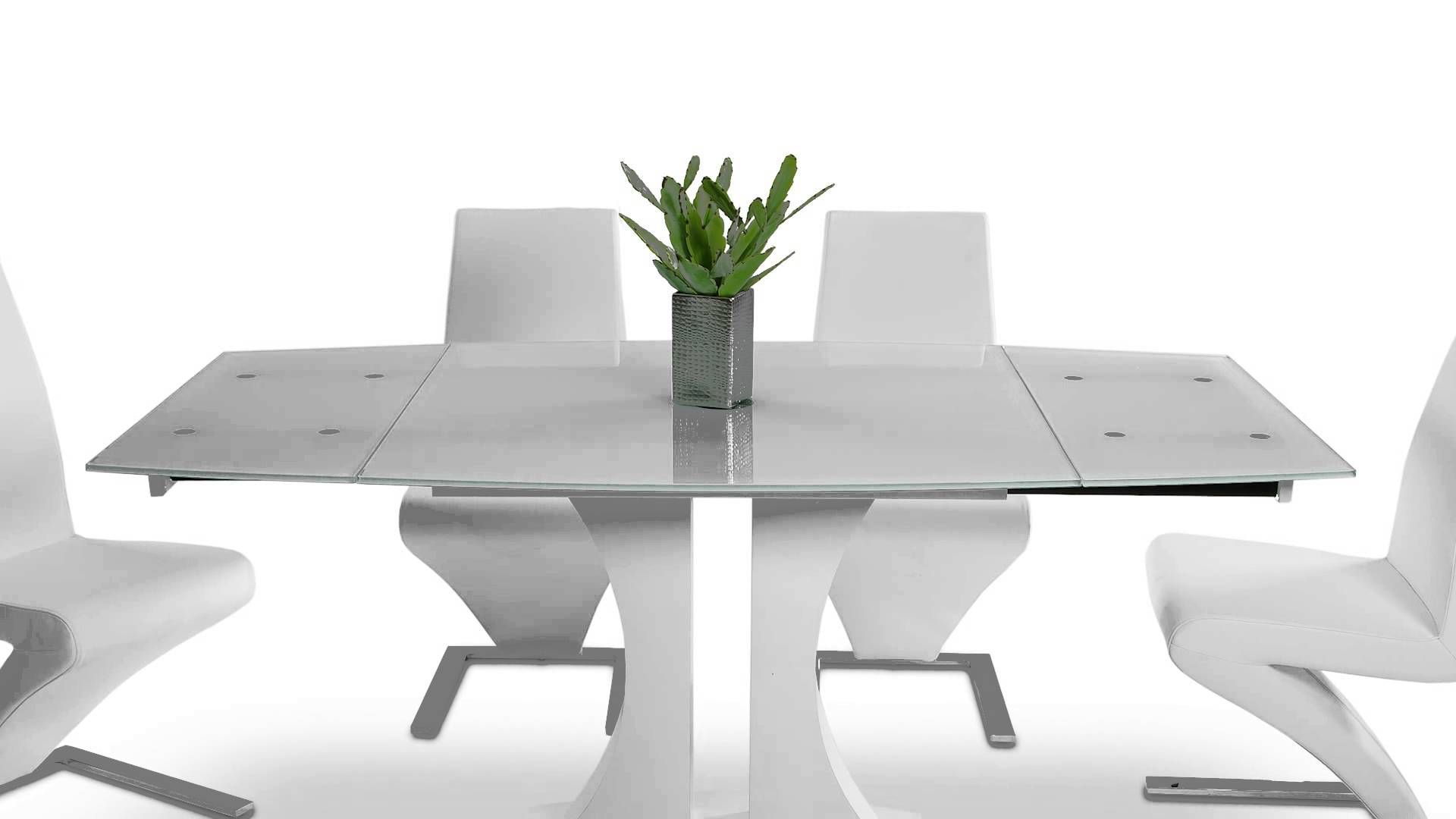 Split Modern White Extend Able Dining Table Vggu2331xt Wht Bunch Ideas Of Gl Extendable Majestic Oval Oak Finished