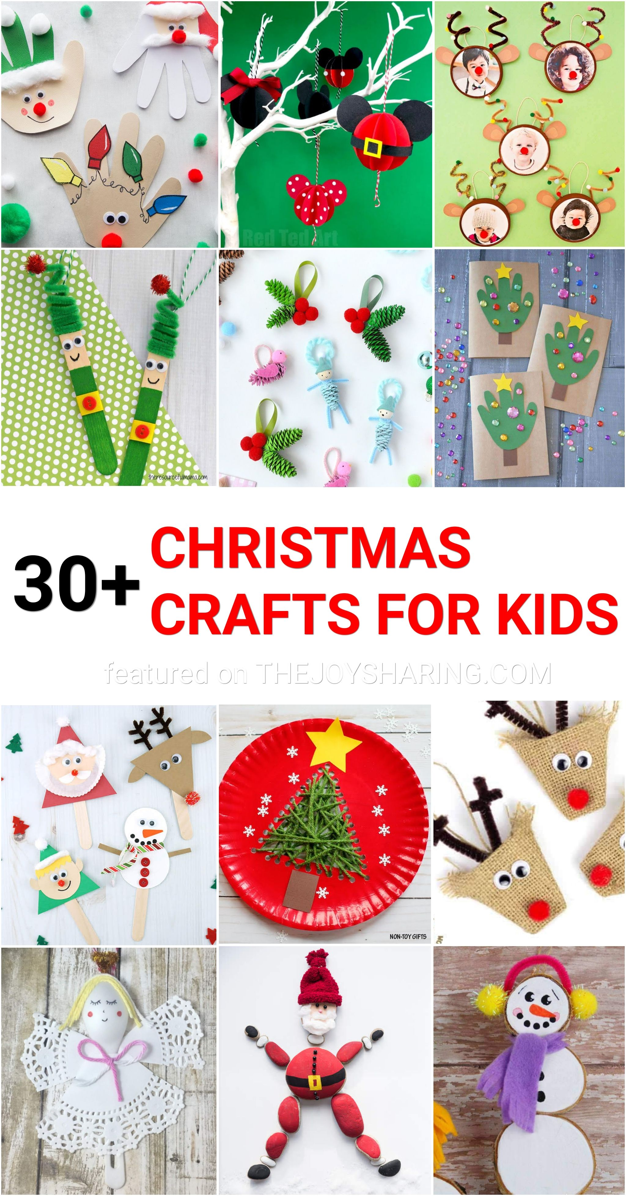 30 Easy Christmas Crafts For Kids Childrens Christmas Crafts Easy Christmas Crafts Christmas Crafts For Kids