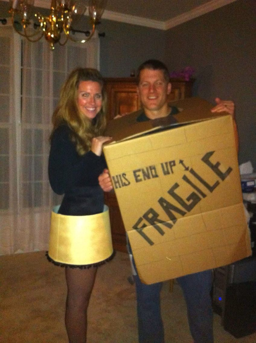 Let years costume nailed it! Leg lamp and Fragile box