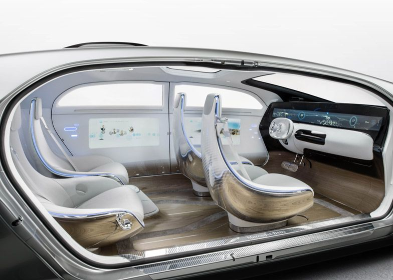 "Trends in automotive; Mercedes-Benz's latest concept car is a driverless ""living space""."
