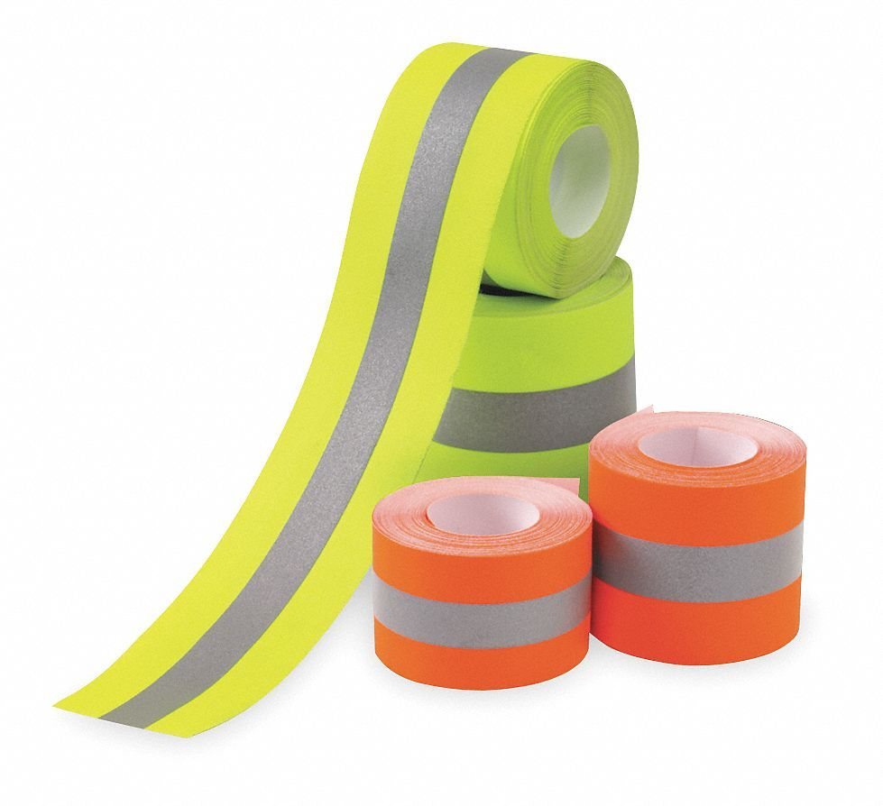 Orange/Silver Reflective Clothing Tape, Width 1-1/2, Length 25 ft #fabrictape