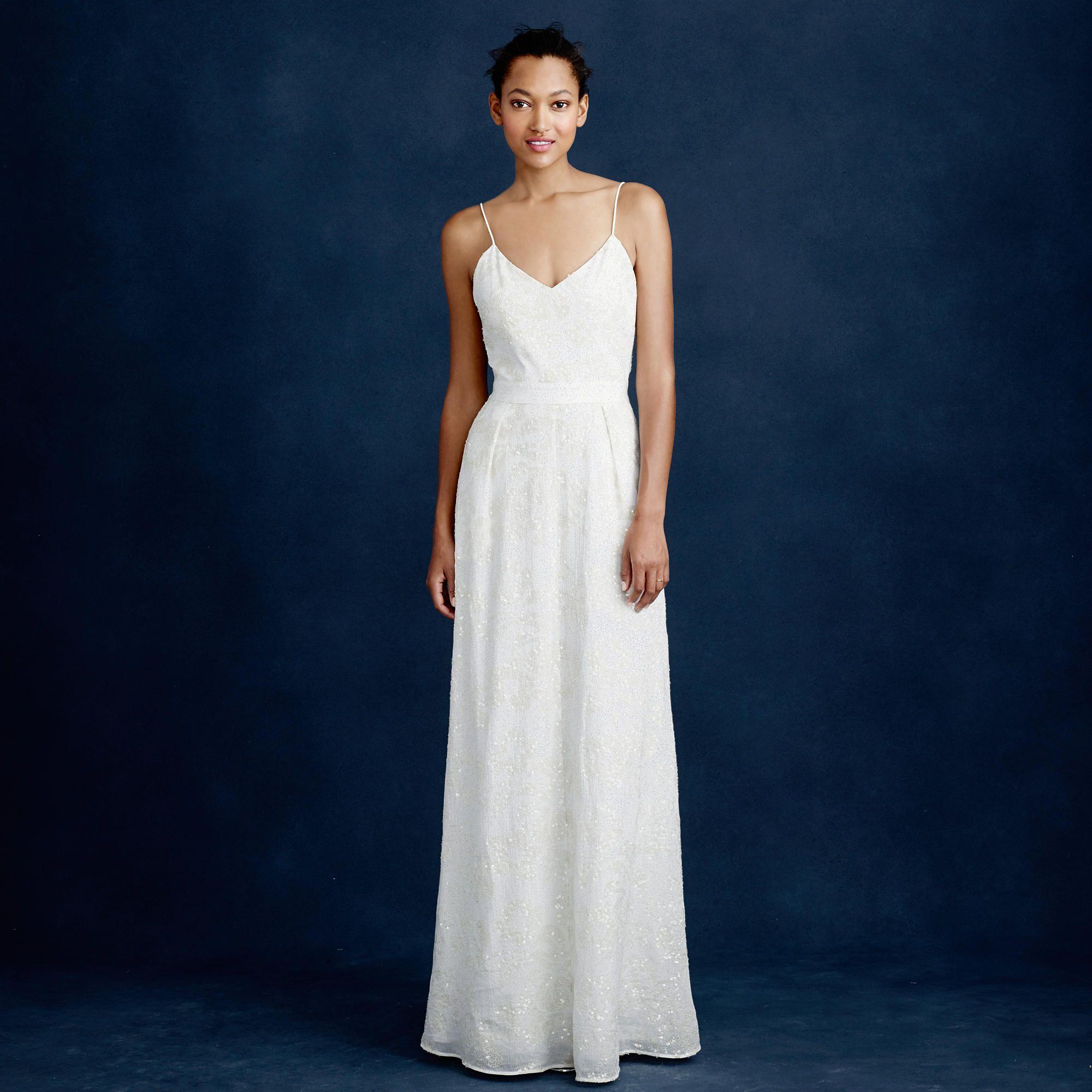 Jcrew wedding dress  JCrew Sequin Plume Gown  Wedding  Pinterest  Sequins Gowns and