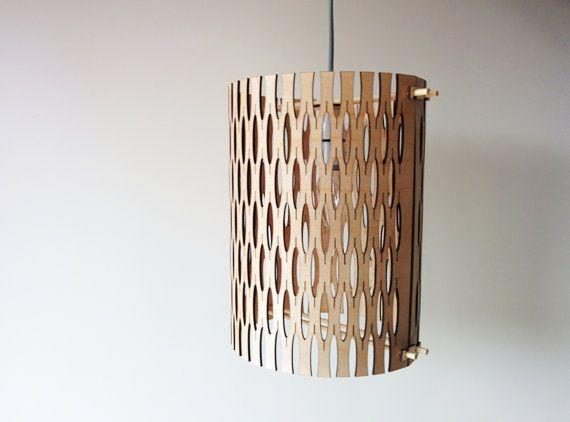 Kerfing pattern light shade by EcoOxygen on Etsy