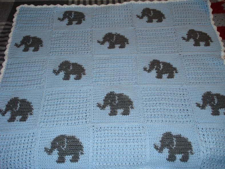 Elephant Blanket Crochet Elephant Pattern Crochet Elephant Elephant Blanket