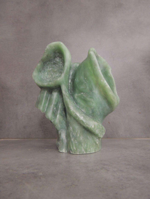 Steatite Plan De Travail sculpture sur pierre , steatite verte : sculptures, gravures