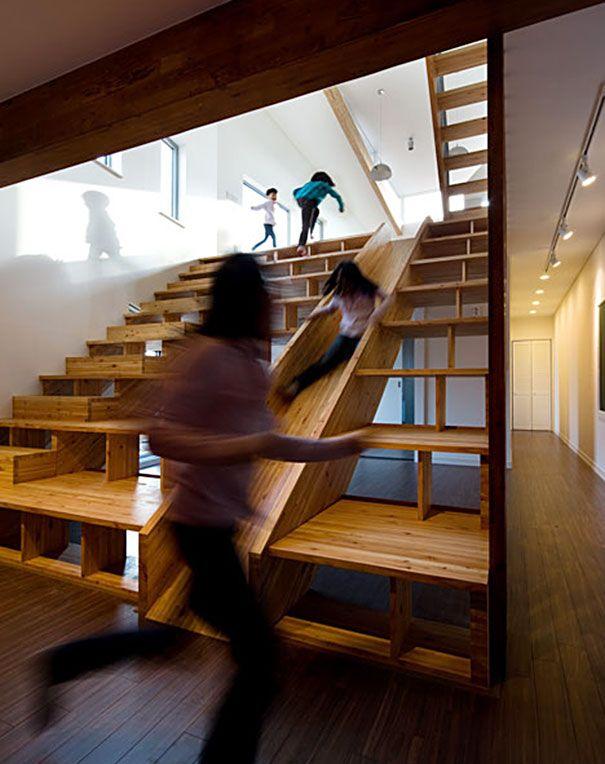 moderne treppe bucherregal, 20+ beautiful stairs that will make climbing to the second floor, Design ideen