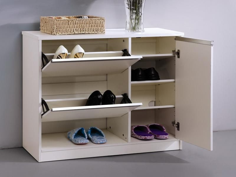 Wonderful Beautiful White DIY Shoe Cabinet Part 6
