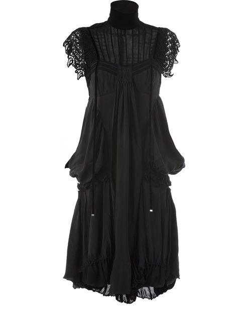 Sweet Crochet Sleeve Dress