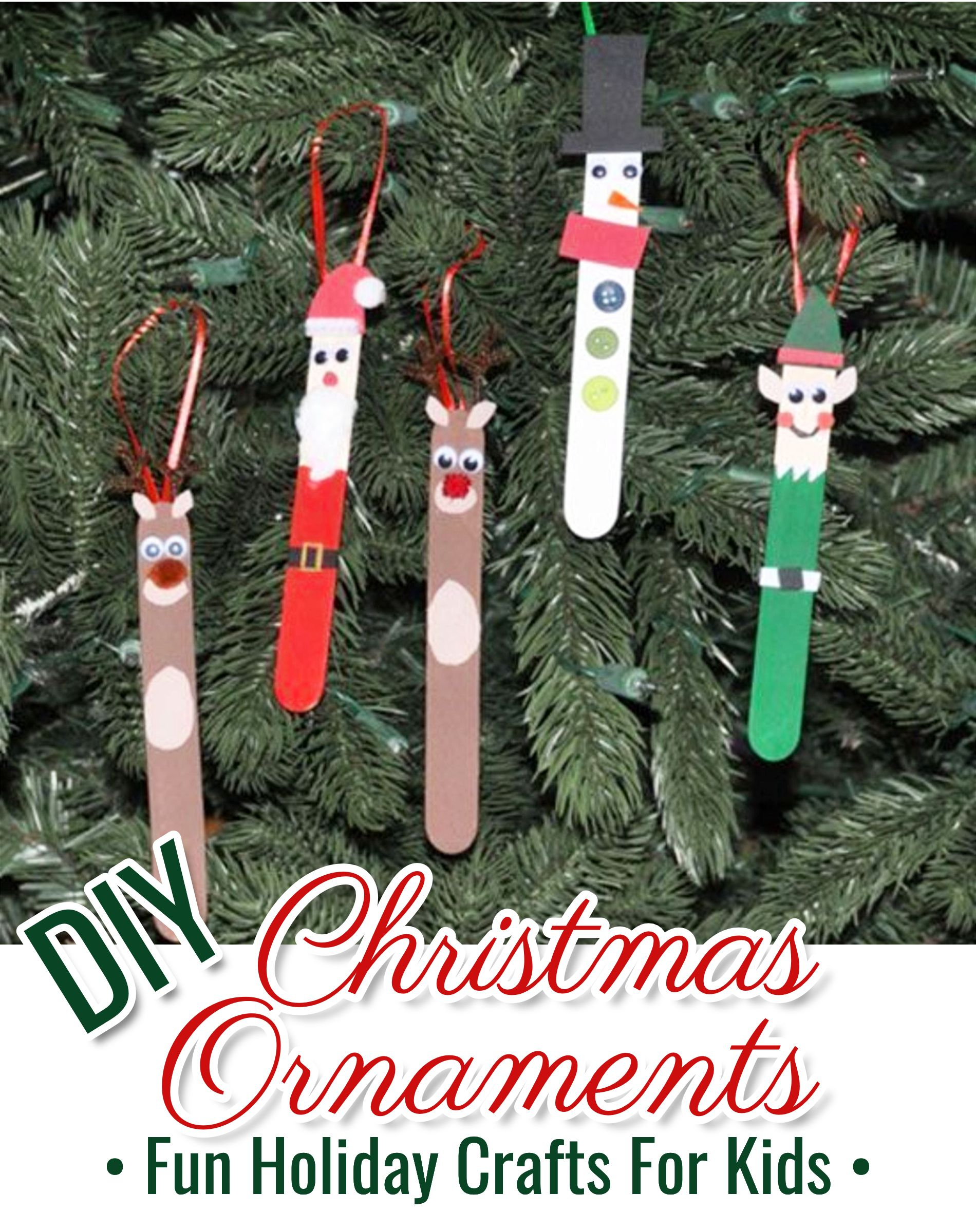 Kids 2020 Christmas Ornaments DIY Christmas Crafts for Kids   Easy Craft Projects for Christmas