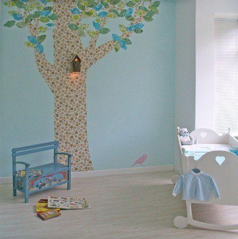a tree in the room :-) cute - kinderkamers | pinterest - bomen, Deco ideeën
