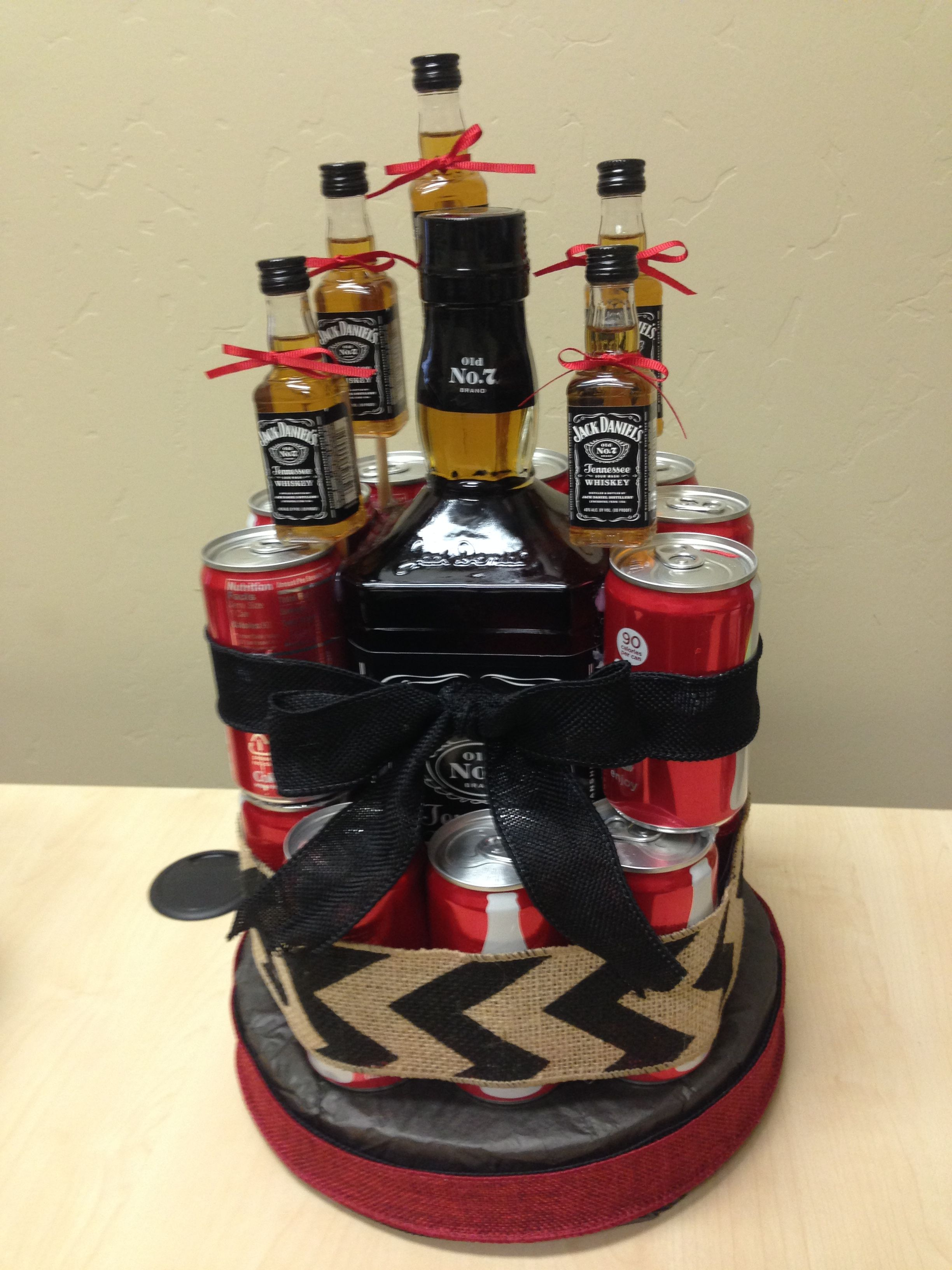 Jack and Coke birthday cake Liquor gifts, Liquor gift