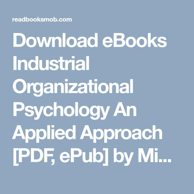 Industrial Psychology Ebook