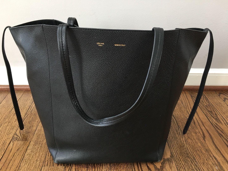 a1a16e3d6e Celine Pebbled Black Classic Phantom Cabas Tote Bag