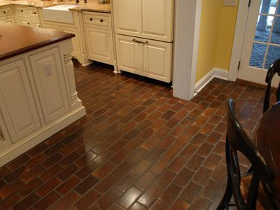 This Is A Different Look For Old Barn Wood Flooring. The Size And Pattern  Looks · Brick Kitchen ... Amazing Design
