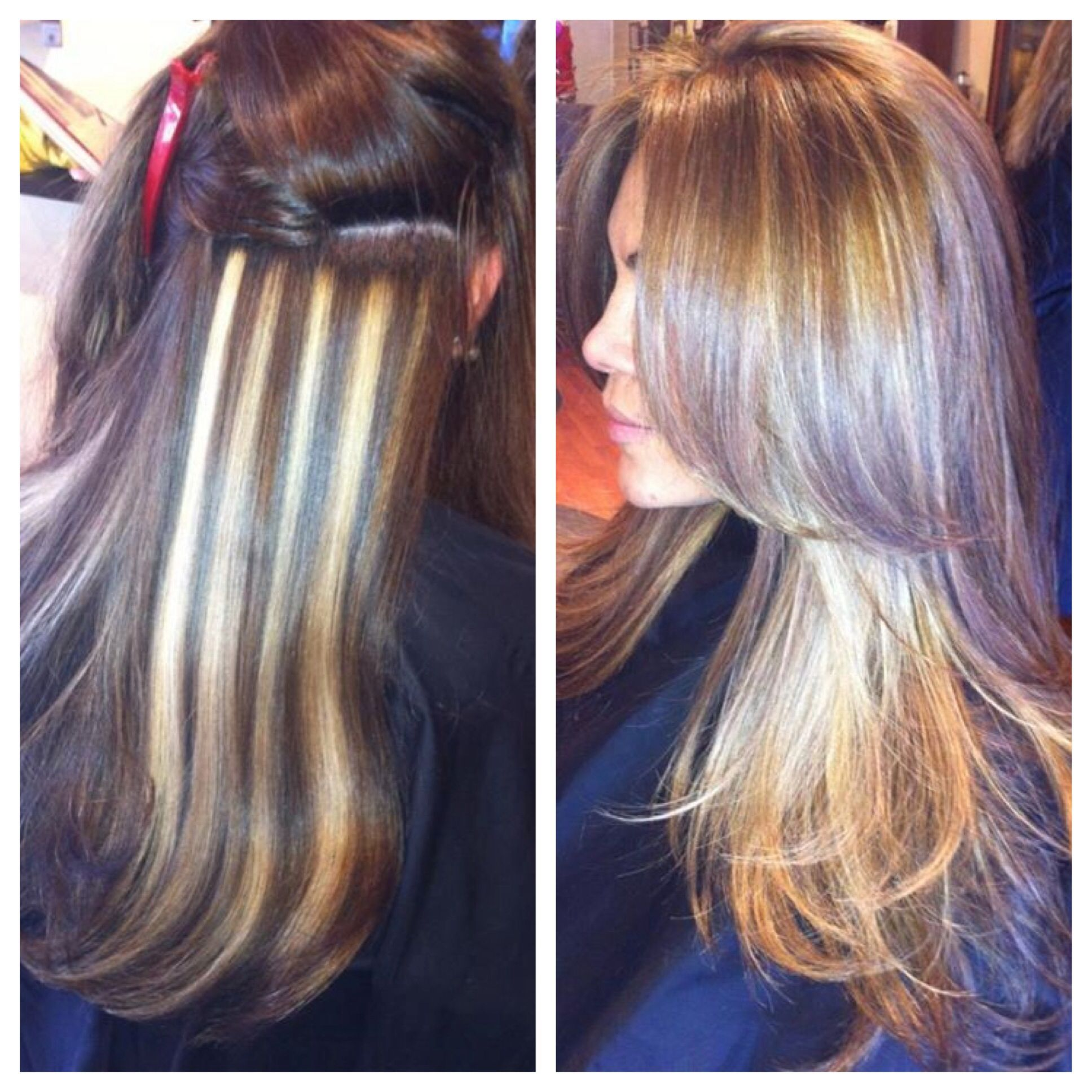 Before and after... Vertical highlights and lowlights !!!