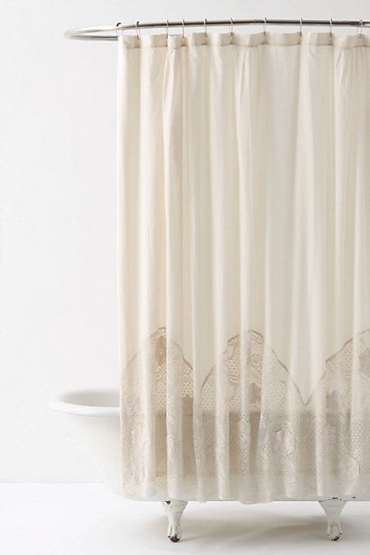 Crocheted Arches Shower Curtain Anthropologie Com