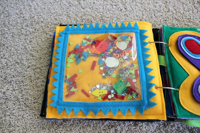 i spy quiet book page, like the idea of attaching shaped to the page with