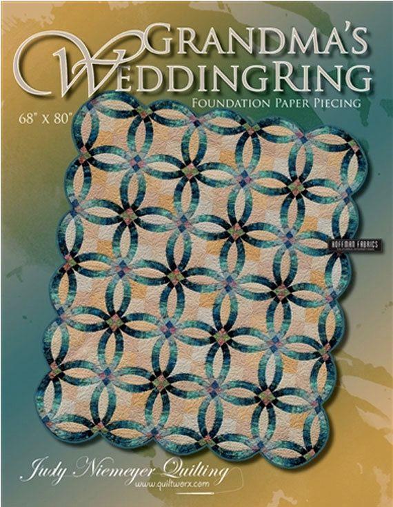 Grandmas Wedding Ring Paper Pieced Quilt Pattern Judy Niemeyer DIY