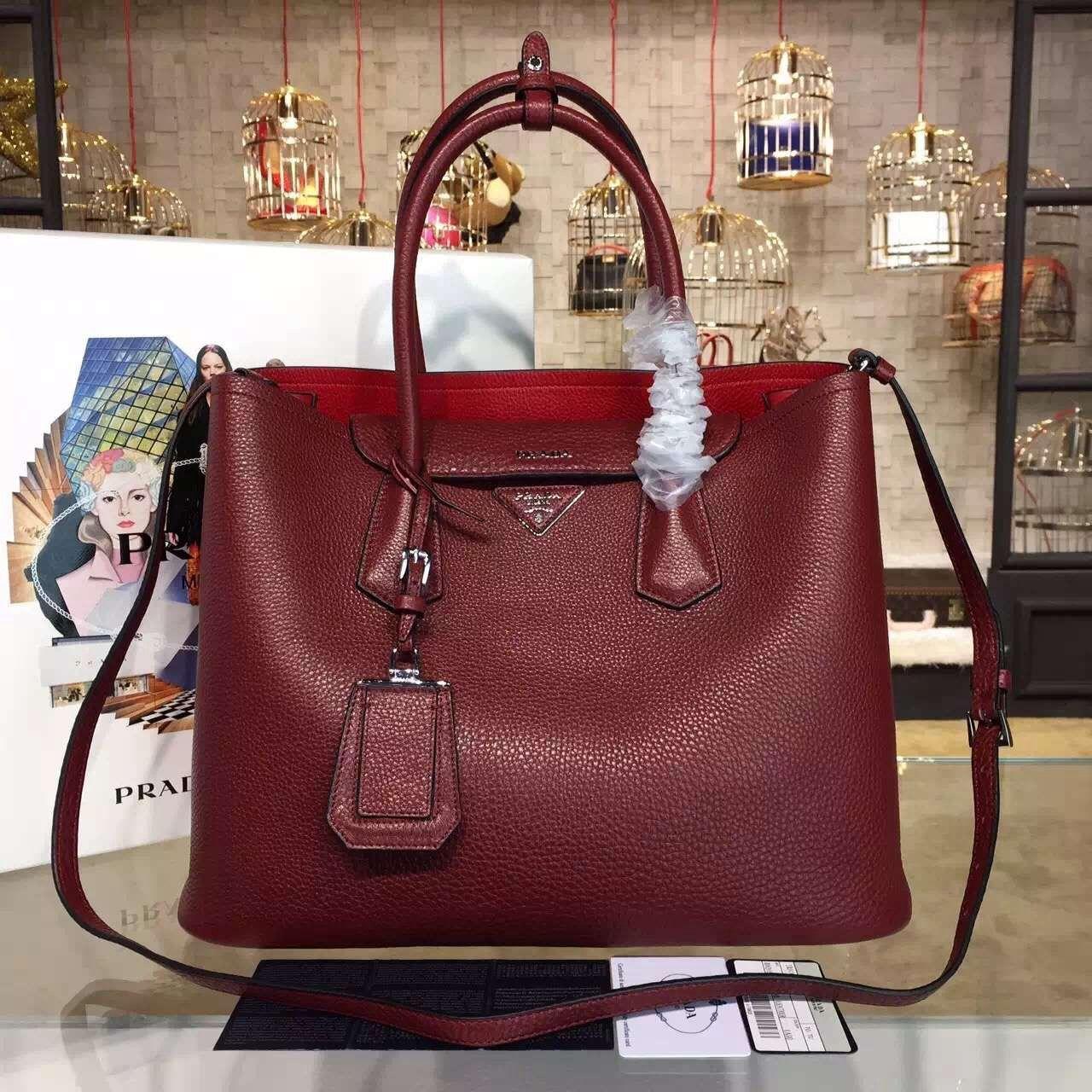 ... netherlands prada 1bg007 calf leather double bag 2016 5e751 68114 2a536db1f5273