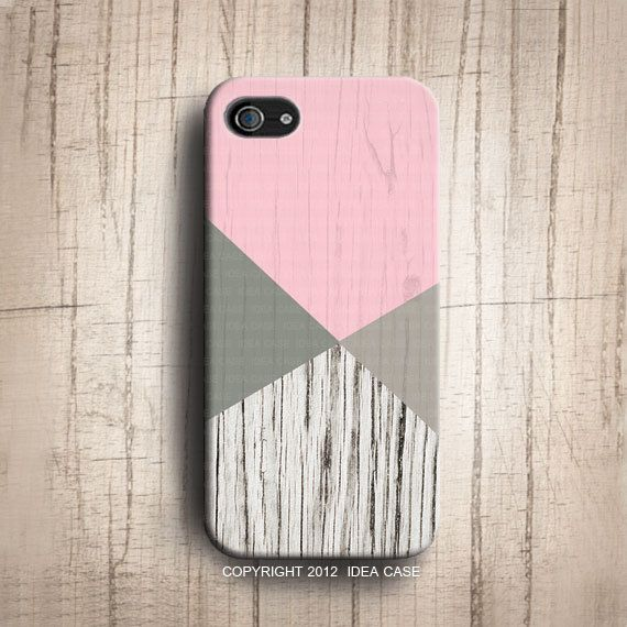 Wood Print Color Block Pink Iphone 5S Case IPhone 5 By IdeaCase 2200