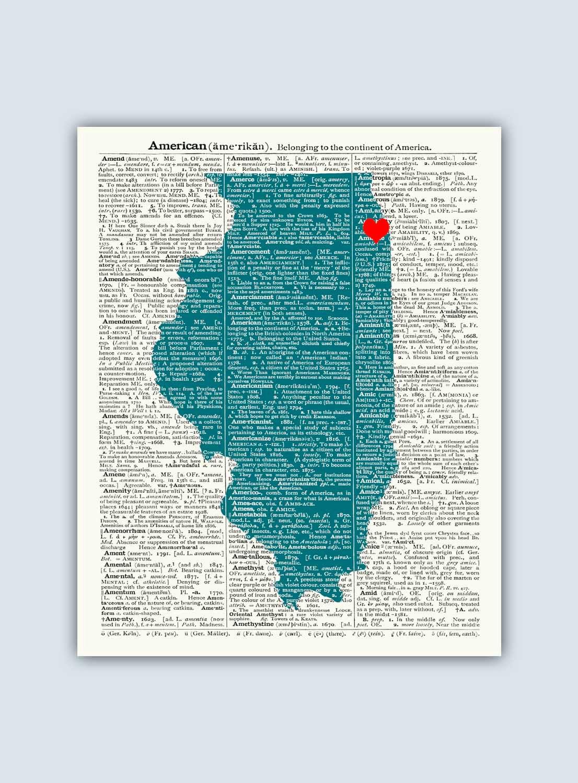 Illinois Print, Illinois Map, Illinois Wall Art, Illinois Gift ...