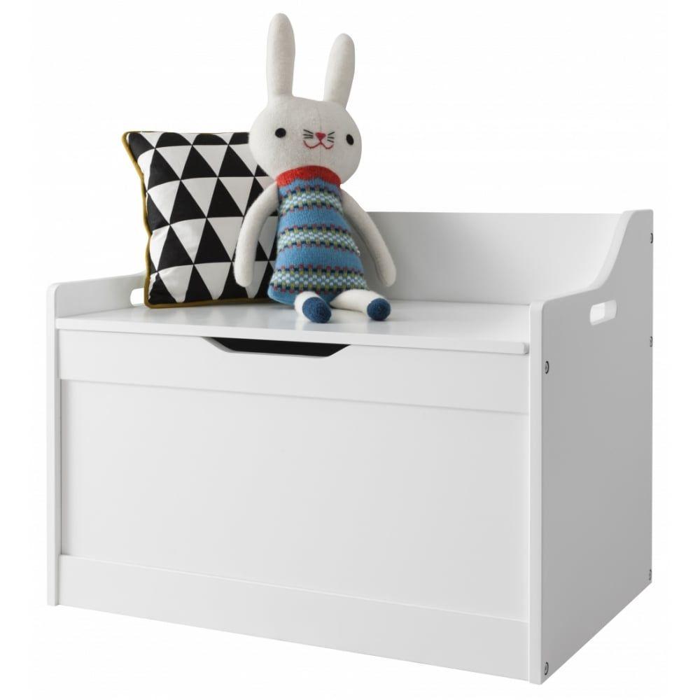 Lola Toy Box In White Storage Organiser