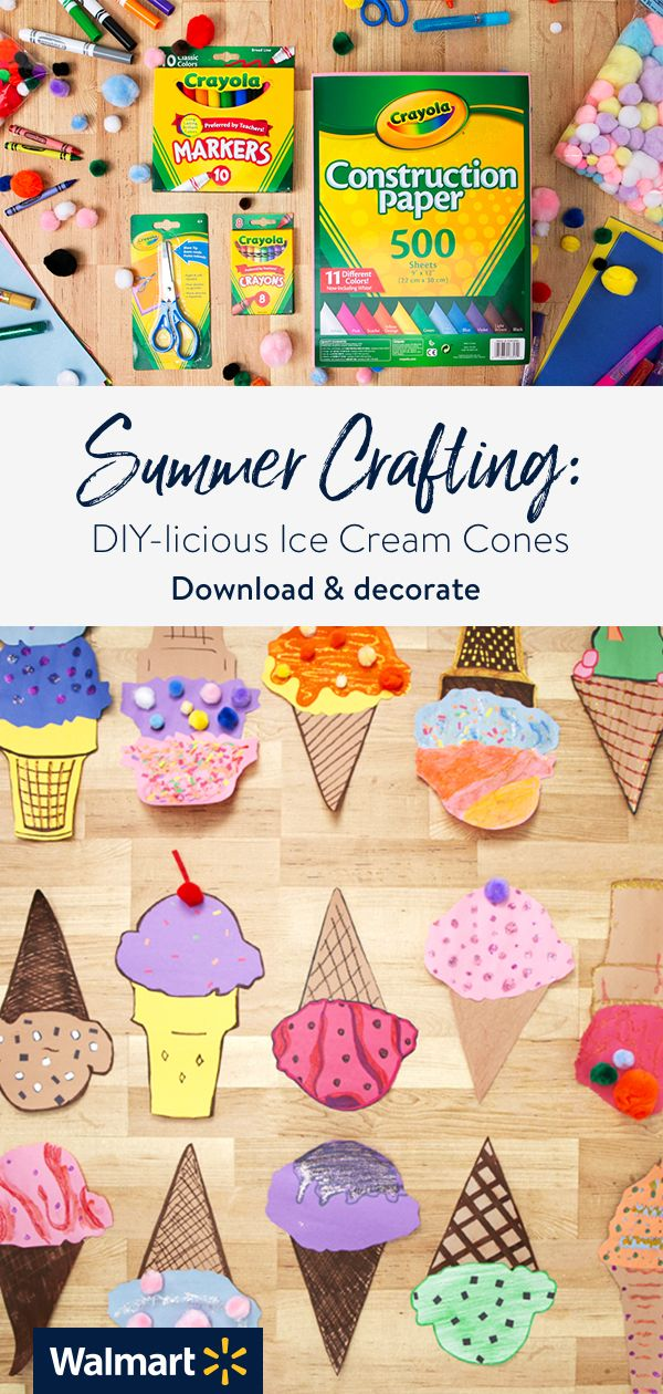 How To Make Cute Paper Ice Cream Cone Crafts Diy Crafts